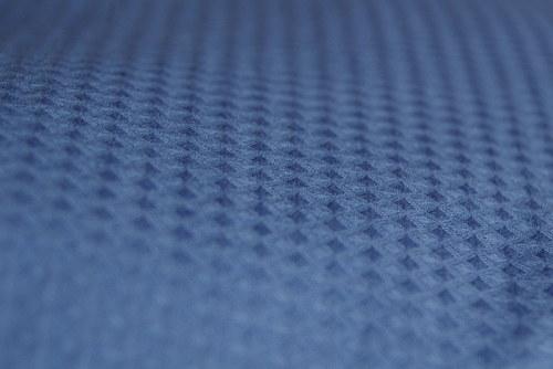 Modrý polštář 40x40 cm s náplní