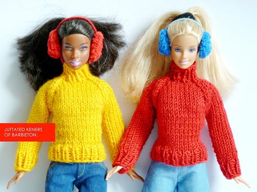 Žlutý svetr pro Barbie