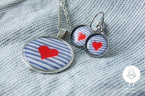 Srdce námořníka - ocelové náušnice