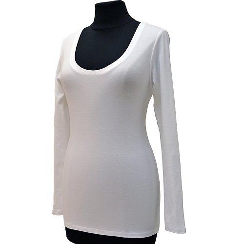 Bílé tričko belaroma dlouhý rukáv, kulatý výstřih