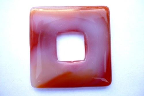 Donut XL 4 x 4 cm - achát, č.5