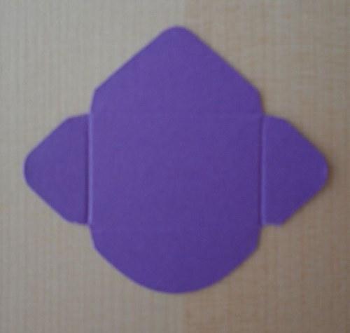 Výsek - obálka mini - tmavě fialová 1ks