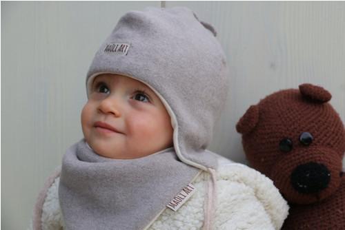 Ušatka BIO bavlněný Fleece - béžová