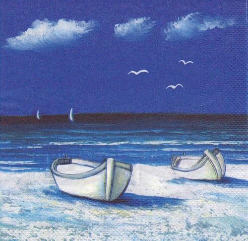 Ubrousek - mořské motivy