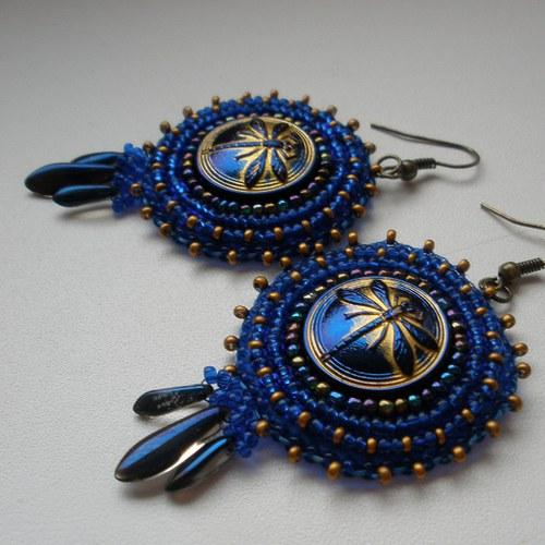 Mis des libellules royales bleues - náušnice
