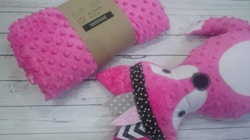 Minky deka růžová