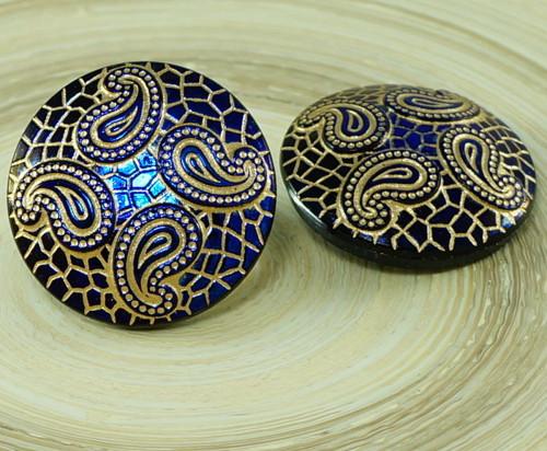 1ks Tmavě Lesklé Modré Matný Zlatý List Hadí Kůže