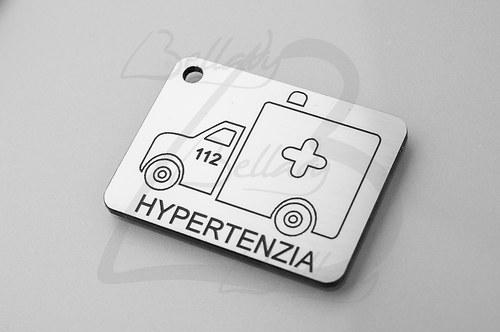 SPE4261, PRÍVESOK Hypertenzia STRIEBRO /1ks