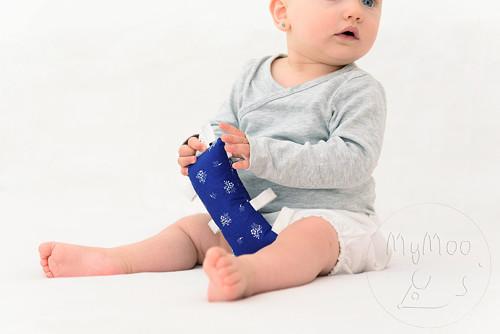 Montessori úchopový polštářek - modrotisk