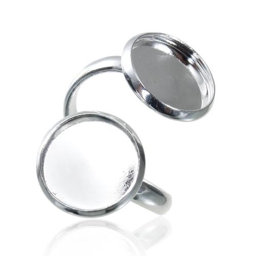prsten s lůžkem12mm/ stříbro/ 16,5mm/ 1ks