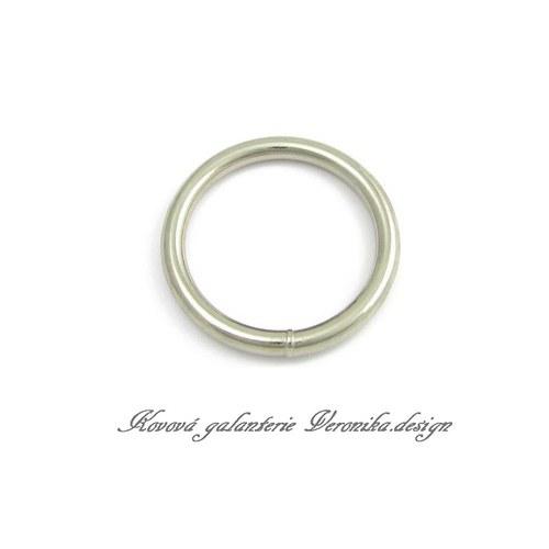 Galanterní kroužek  25 mm - nikl