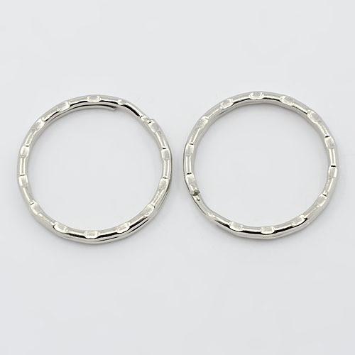 51ef100338c kroužky na klíče  vlnka platina   25mm (2ks)   Zboží prodejce Shushu.shop
