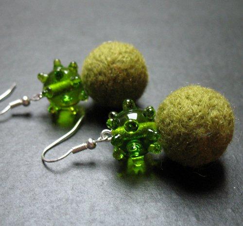 Plyšky s vinutkou zelené