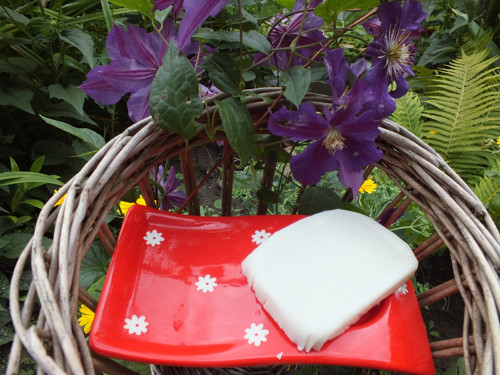 přírodní mýdlo z kozím mlékem