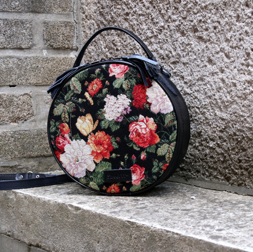Tapestry Cross Body Bag and Backpack, Round Bag