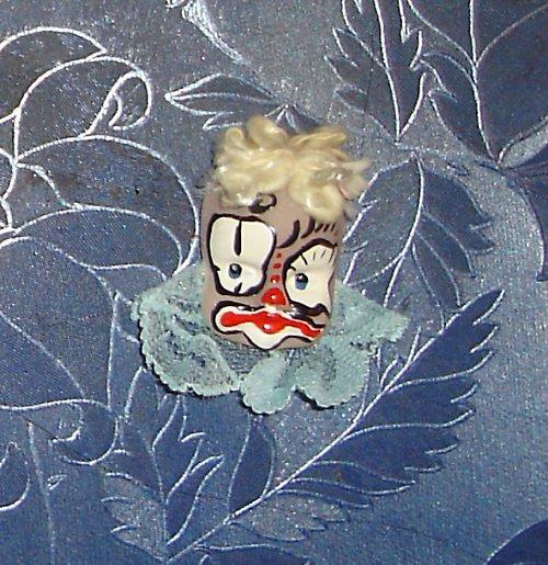 Krásná brož hlavička - panenka / klaun