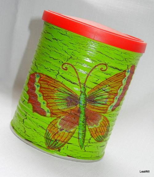 Dózička, pikslička jaro, motýl