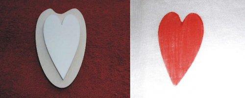 Razítko srdce - v.6x3,5cm