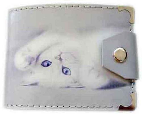 Kožená peněženka  kočka