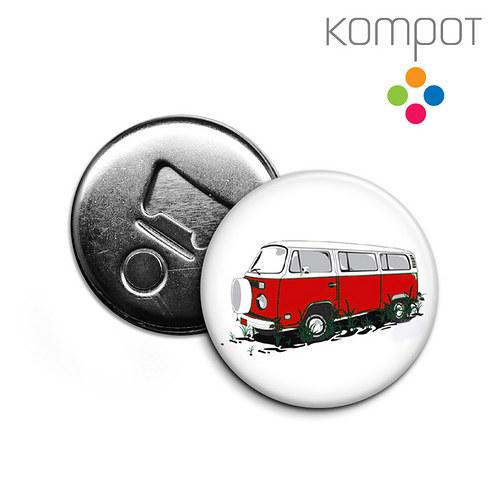 Otvírak s minibusem :: červený
