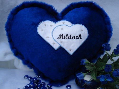 Polštář srdce Milánek ,Milan,