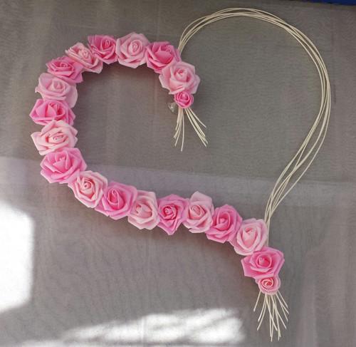 Pedigove srdce na kapotu odstíny růžové