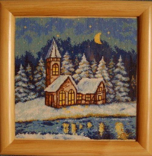 ,,Zimní krajinka s kostelíčkem,,