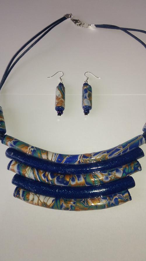 náhrdelník s naušnicemi