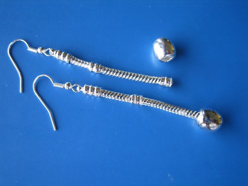 Naušnice - řetízek v barvě stříbra