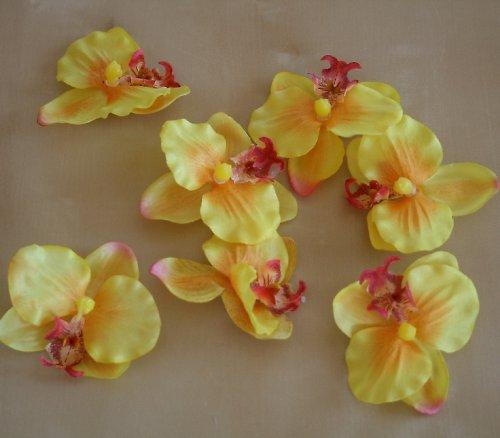 Umělá květina - Orchidej žlutá