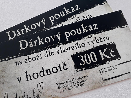 Nákupní poukaz 300 Kč u prodejce Mýd Lenka