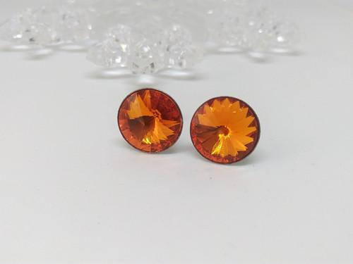 Ocelové náušnice - Tangerine 12mm