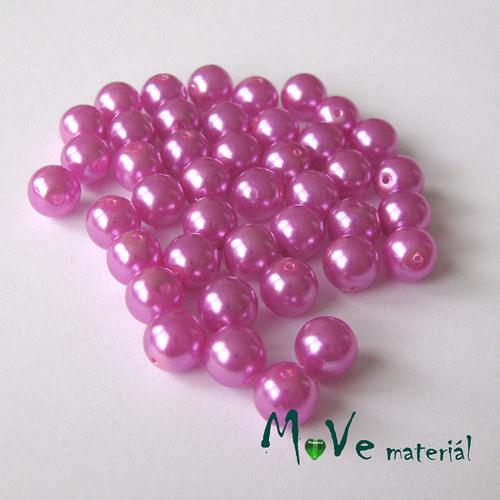 České voskové perle růžové 7mm, 42ks cca 20g