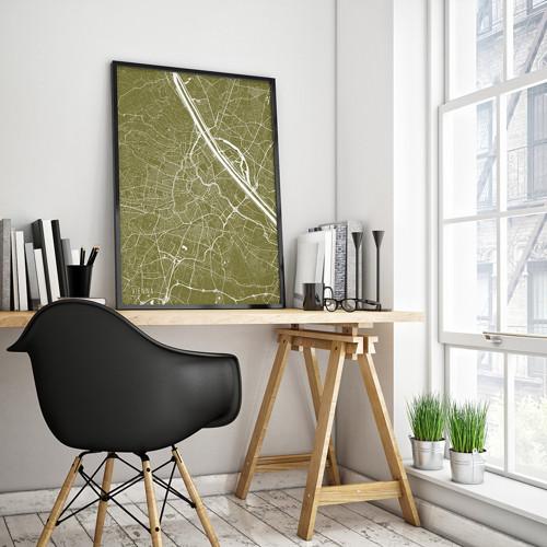VÍDEŇ, 50x70cm, minimalistická, zlatá