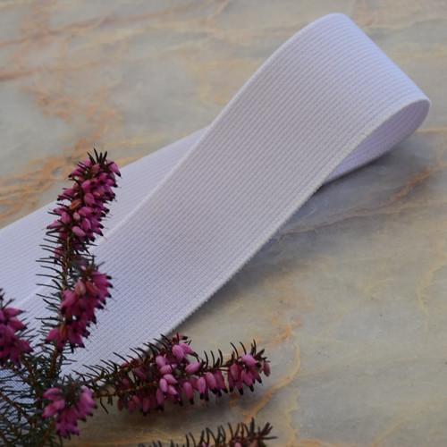 Pruženka do pasu klasická bílá 40 mm