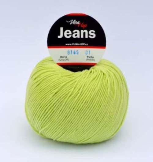 Jeans zelenožlutá 8145