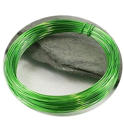 Barvený měděný drát 0,3 mm - zelený