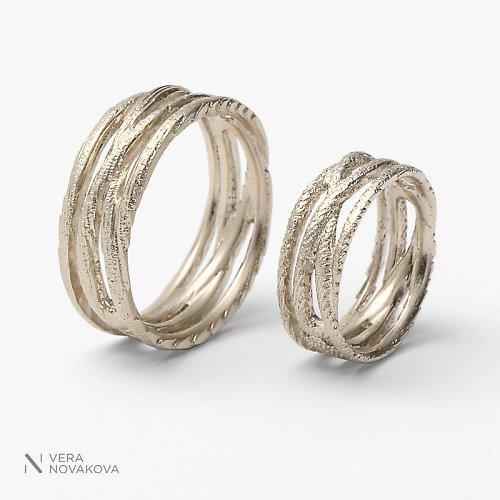 Snubní prsteny Ornament - bílé zlato