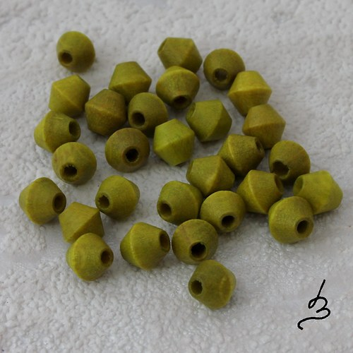 Dřevěné SV zelené 6/6 mm - bal. 30 ks