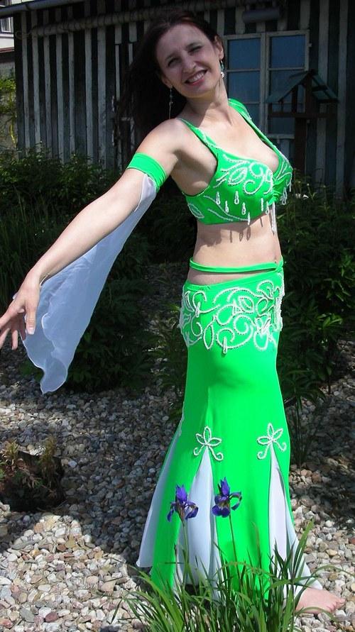 Orientální kostým na břišní tanec - jarní