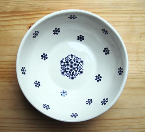 Bílá a modrá - keramická miska