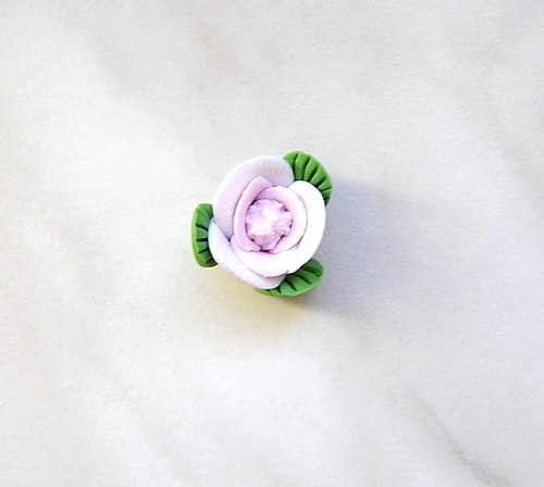 Fimo růžička, 15 mm - 1 kus