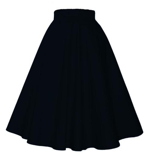 ELLA SUKNE Black