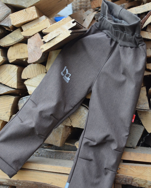 Softshell kalhoty Comfort - Hnědé (zateplené)