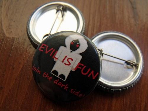 """Button \""""Dark side\"""""""