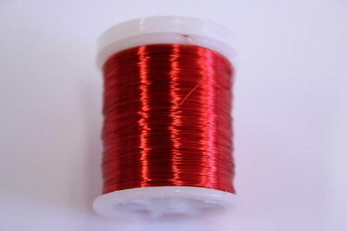 Měděný drátek 03mm - červený, návin 48,5-50m