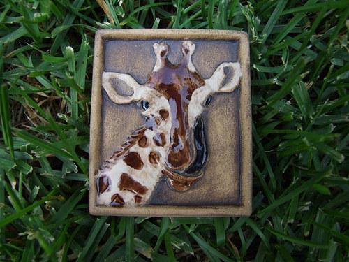 Magnetka keramická- žirafa