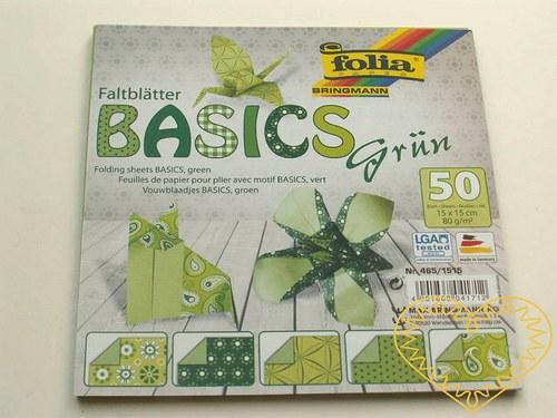 Zelené papíry na origami a další výtvarné techniky
