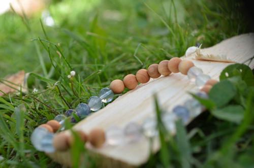 Ochranný náramek - wood/stone no.89...