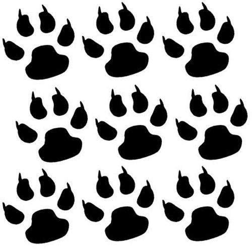 Psí packy (9ks) - samolepky na stěnu 7 x 7cm